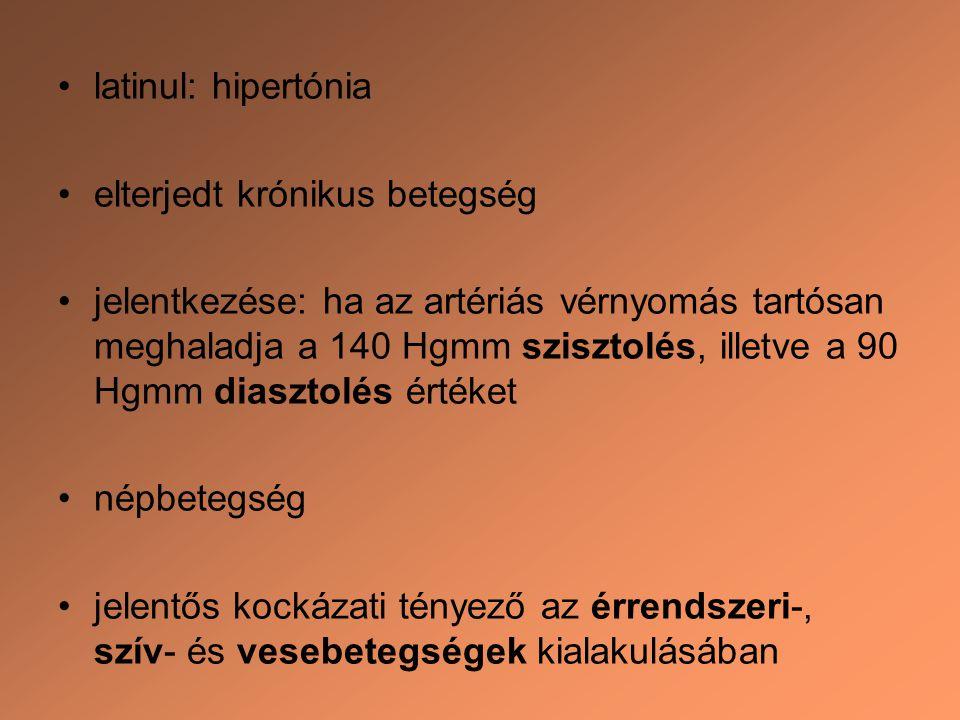 magas vérnyomás latin nyelven