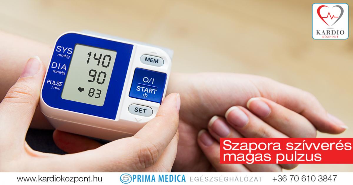 alacsony vérnyomás és magas pulzus magas vérnyomásban