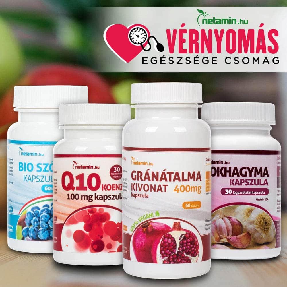 magas vérnyomás esetén hatékony étrend-kiegészítők