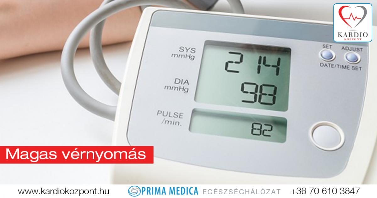 magas vérnyomás vagy mi a teendő ha emelkedik a vérnyomás