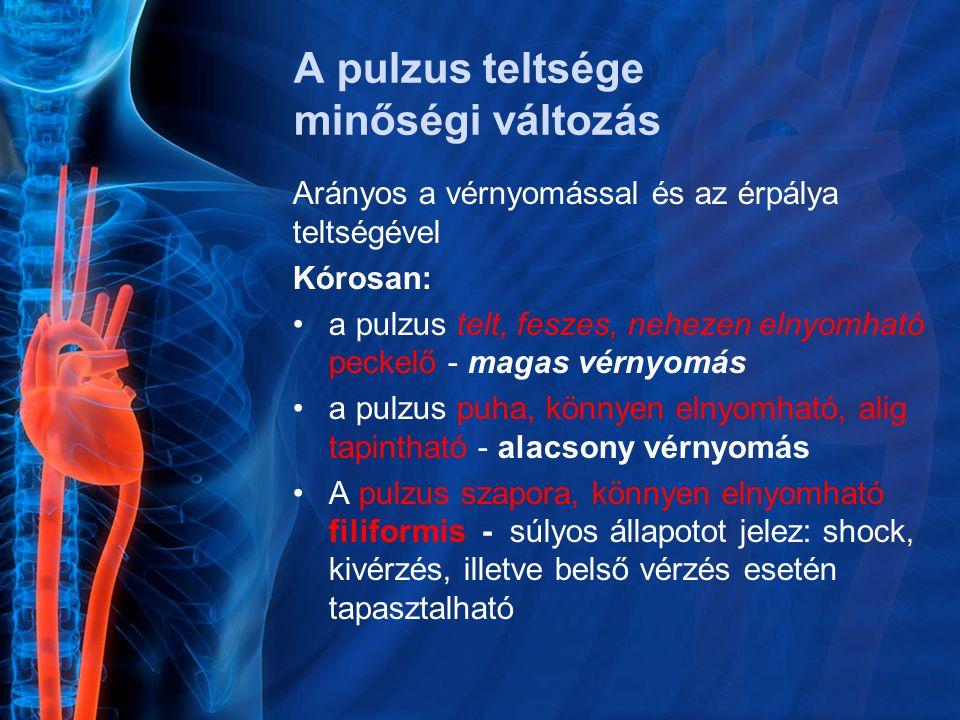 magas vérnyomás pulzus 60