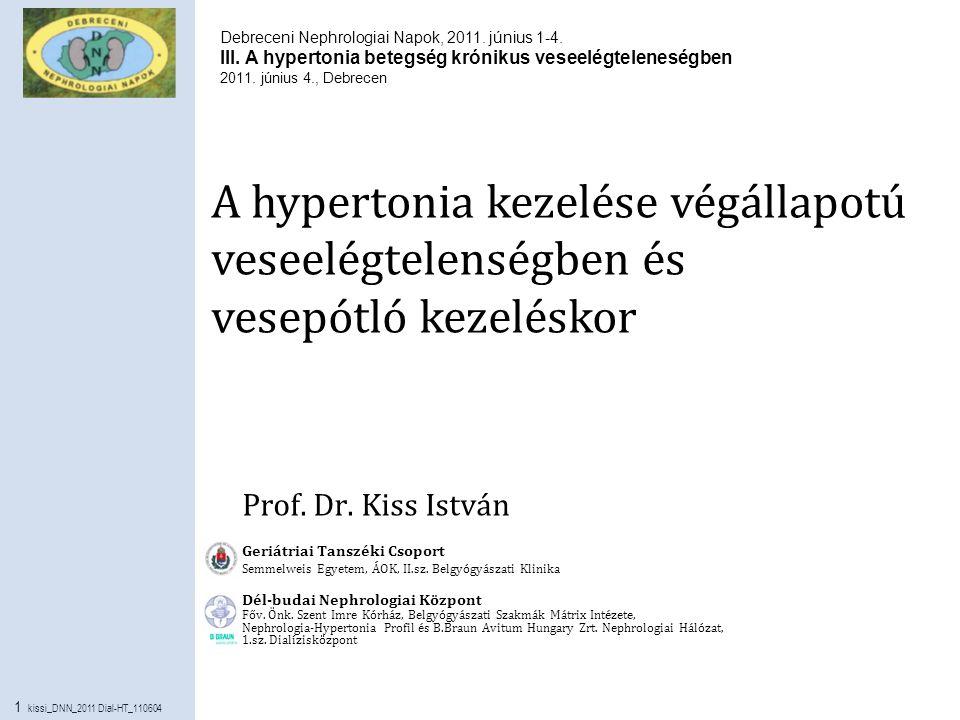a krónikus hipertónia kezelése